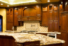 Modern kitchen cabinetry Royalty Free Stock Images