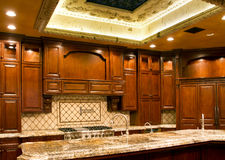 Modern kitchen cabinetry Stock Image