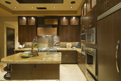 Modern Kitchen With Cabinets Stock Photo