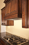 Modern Kitchen Cabinets Range Hood Royalty Free Stock Photo