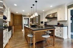 Modern kitchen with center island Stock Photos