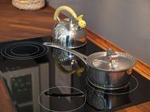 Modern kitchen ceramic stove Stock Image