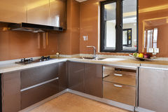 Modern kitchen royalty free stock photos