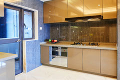 Modern kitchen. Modern  concise  kitchen in new house Royalty Free Stock Image