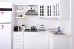Modern kitchen. Modern contemporary kitchen and kitchen equipments Royalty Free Stock Photos