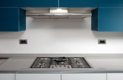 Modern kitchen. Modern contemporary kitchen and kitchen equipments Royalty Free Stock Photography