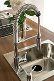 Modern kitchen counter and sink Royalty Free Stock Photos