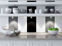 Modern kitchen design. Stock Photography