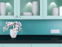 Modern kitchen design. Royalty Free Stock Photography