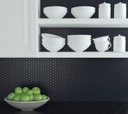Modern kitchen design. Royalty Free Stock Image