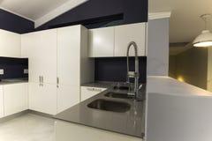 Modern kitchen design tap Stock Photo