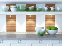 Modern kitchen design. Royalty Free Stock Photo