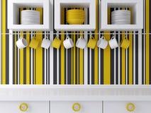 Modern kitchen design. Royalty Free Stock Images