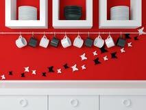 Modern kitchen design . Royalty Free Stock Images