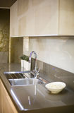 Modern kitchen detail. Modern kitchen interior detail with modern materials Royalty Free Stock Image