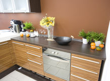 The modern kitchen detail Stock Images