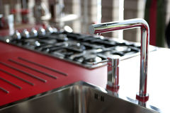 Modern kitchen, detail Royalty Free Stock Images