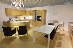Modern kitchen with dining area Stock Photo