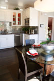 Modern kitchen and dining area Stock Photo