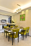 Modern kitchen and dining area Stock Images
