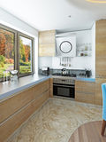 Modern kitchen dining room in the style of kitsch. Stock Photography