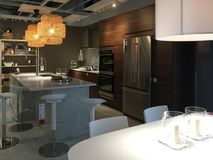 Modern kitchen and dinning room  design at IKEA Stock Photography