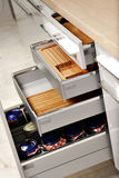 Elegant kitchen drawers Royalty Free Stock Photo