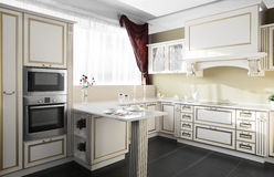 Modern kitchen in european style Stock Photography