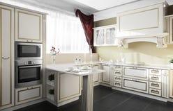 Modern kitchen in european style Stock Photography