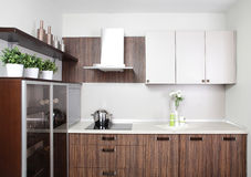 Modern kitchen in european style Royalty Free Stock Photography