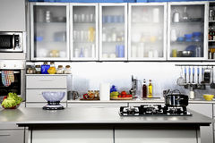 Modern kitchen front view royalty free stock image