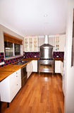 Modern Kitchen with Gas Stove. A very modern kitchen featuring a gas stove Royalty Free Stock Photography
