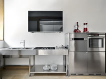 Modern kitchen high technology Royalty Free Stock Photo