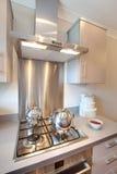 Modern kitchen hob Stock Images