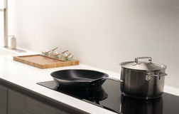 Modern Kitchen Hob. Contemporary, Clean and Bright Kitchen Hob Royalty Free Stock Photo