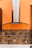 Modern kitchen hood. Royalty Free Stock Images