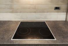 Modern kitchen hotplate Royalty Free Stock Photography