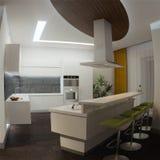 Modern kitchen house interior Royalty Free Stock Photo