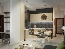 Modern kitchen house interior Royalty Free Stock Photography