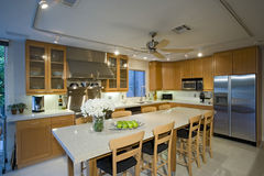 Modern Kitchen In House Stock Photography