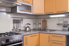 Free Modern Kitchen In Shades Of Peach Royalty Free Stock Photography - 19958367