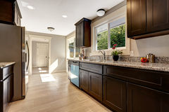 Modern kitchen inteior in new house Stock Photos