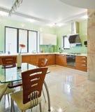Modern kitchen interior Stock Photography