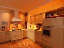 Modern kitchen interior Stock Photography