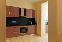 Modern kitchen interior. Beautiful designer kitchen after renovation Royalty Free Stock Photos