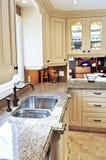 Modern kitchen interior. Modern luxury kitchen interior with granite countertop Stock Images