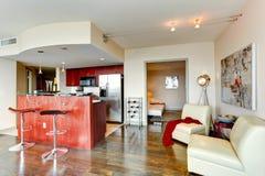 Modern kitchen interior. Royalty Free Stock Photo