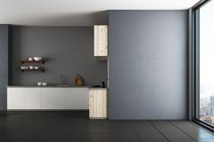 Modern kitchen with copy space royalty free illustration