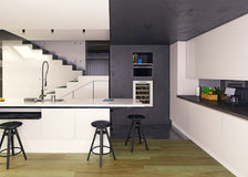 Modern kitchen interior Royalty Free Stock Photography