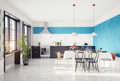 Modern kitchen interior. Stock Image